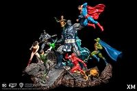 Justice League vs Darkseid Diorama (Color Version)